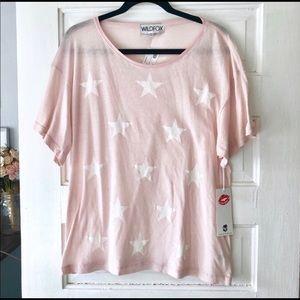 Light pink and white star shirt